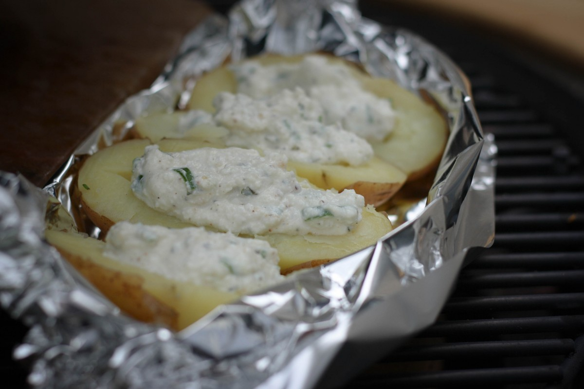 Ricotta stuffed potatoes