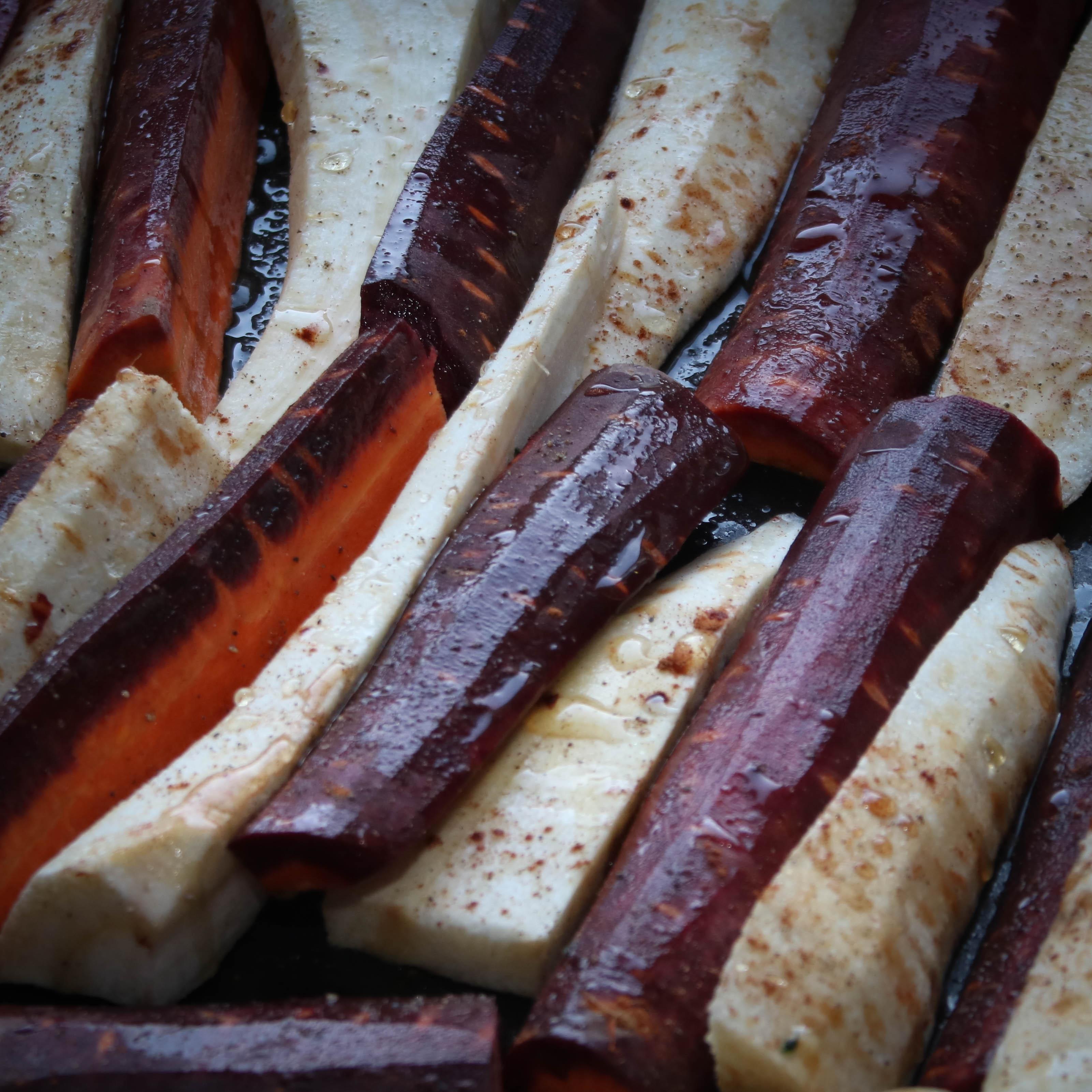Parsnip: Cinnamon roasted