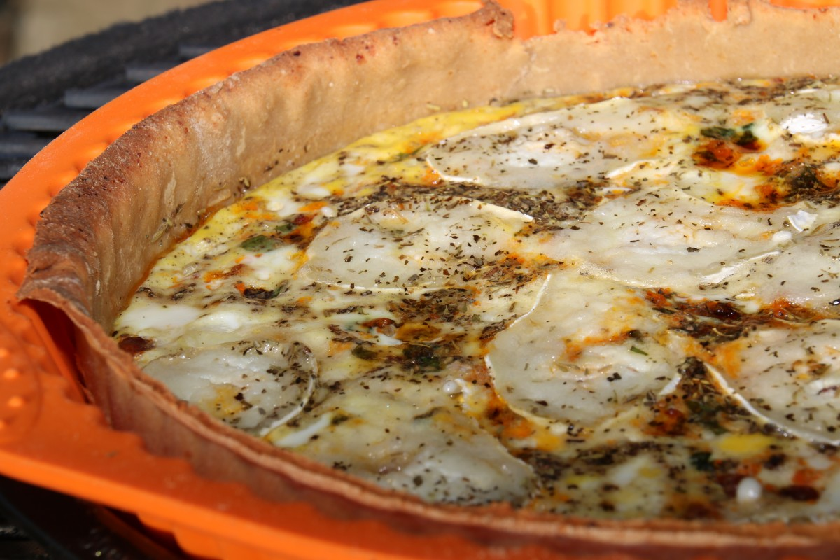 Healthy Chorizo Quiche with Chard and Goat Cheese