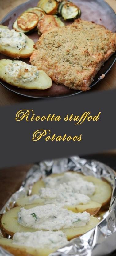Ricotta stuffed potatoes