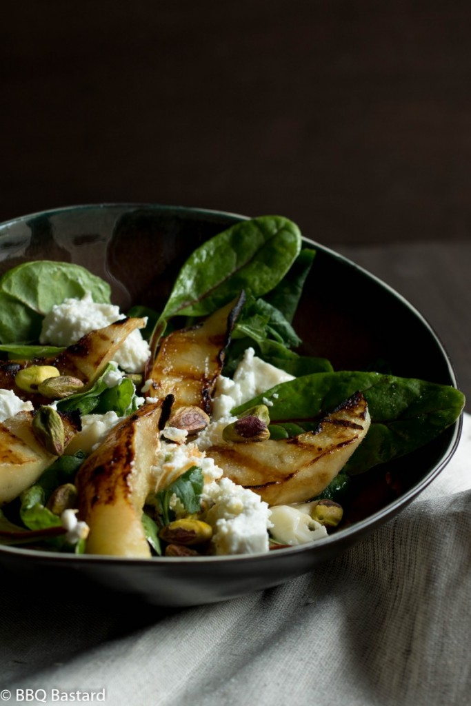 Grilled Pear Salad Bowl