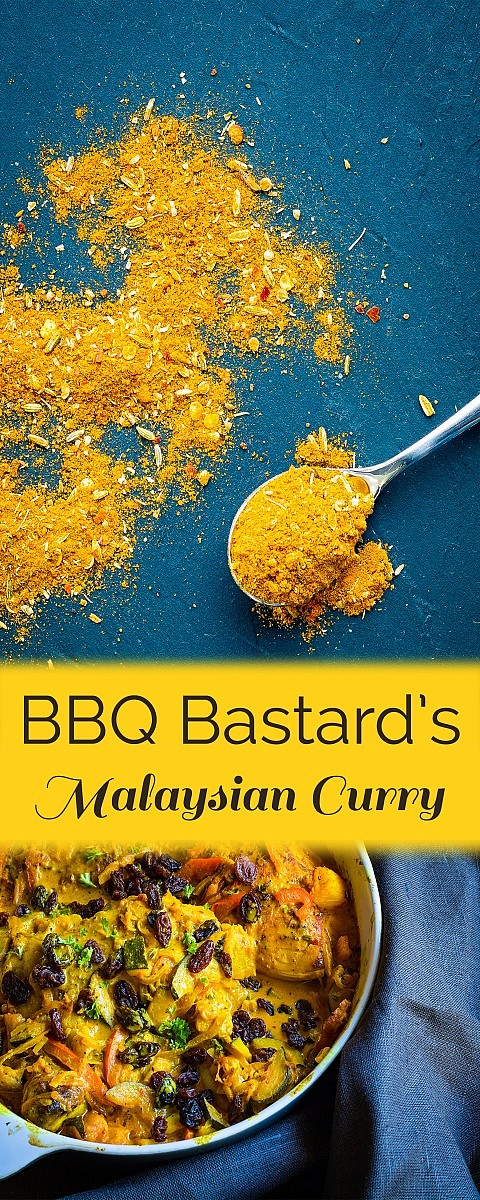 Malaysian curry inspired by the cookbook