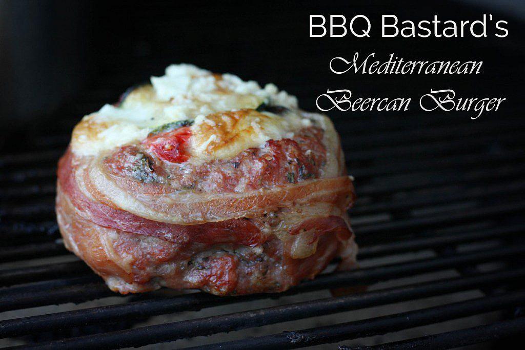 Mediterranean Beercan burger