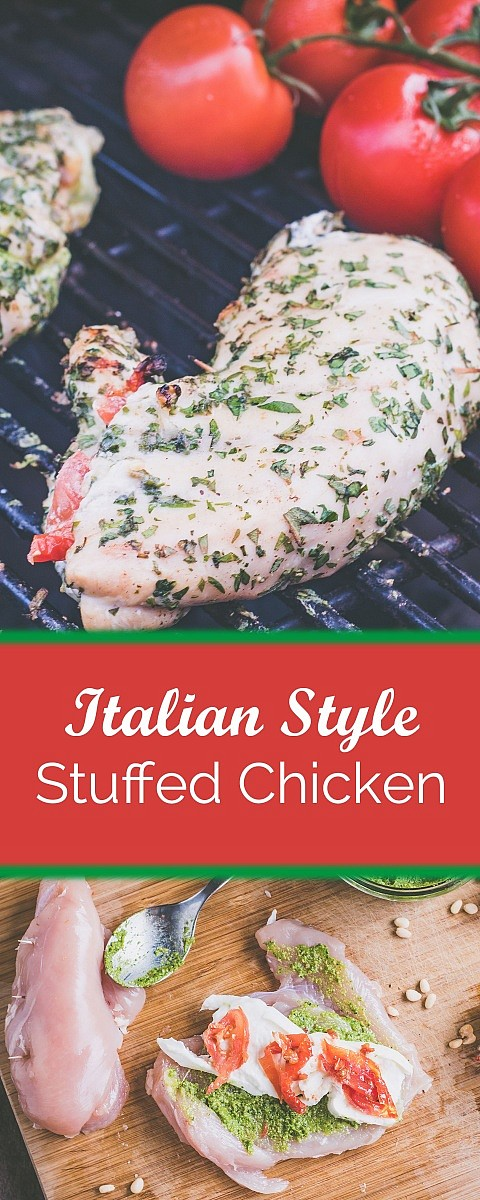 Tomato Mozzarella stuffed chicken