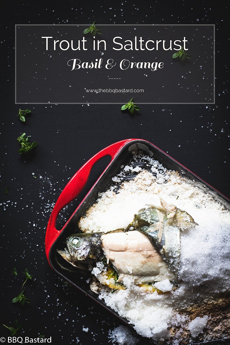 Saltcrusted Trout – Basil & Orange