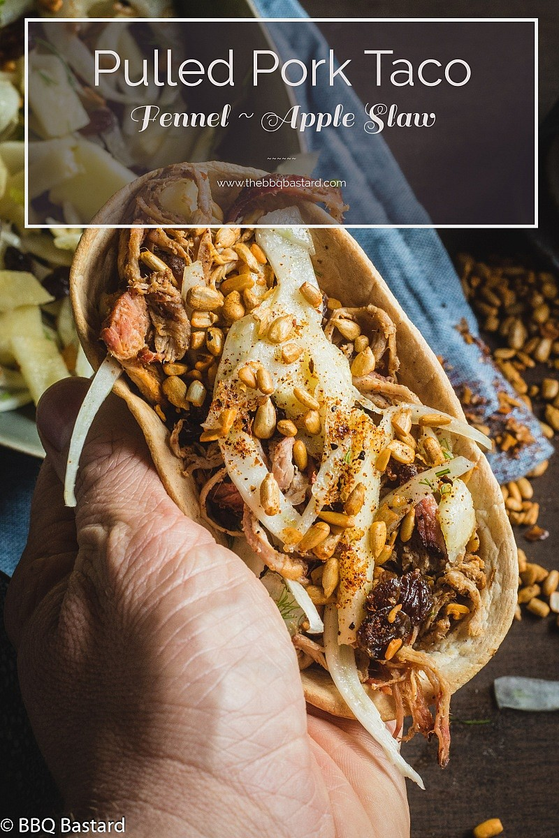 Apple Fennel Slaw Pulled Pork Taco