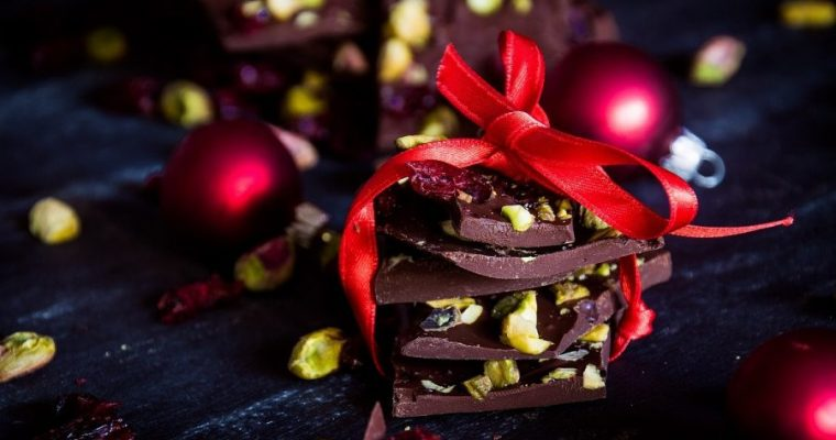Smoked Chocolate Christmas Bark