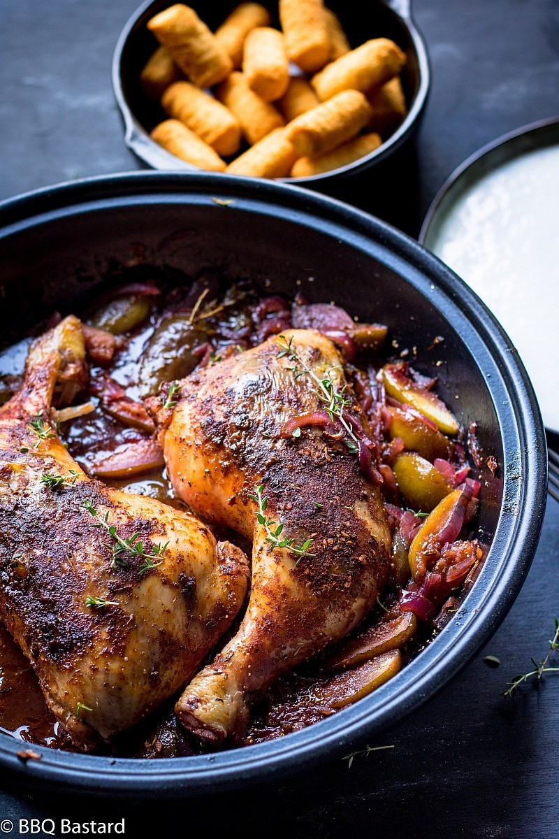 Cherry beer braised chicken thighs with figs (2 pers.)