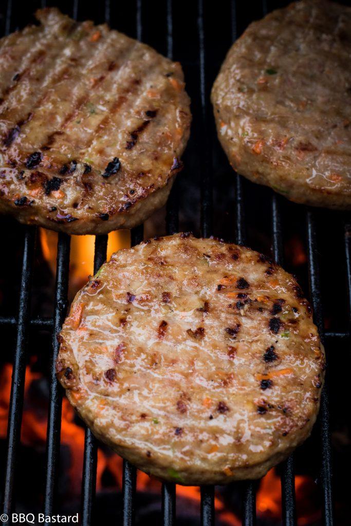 Gerookte Teriyaki Kippenburger