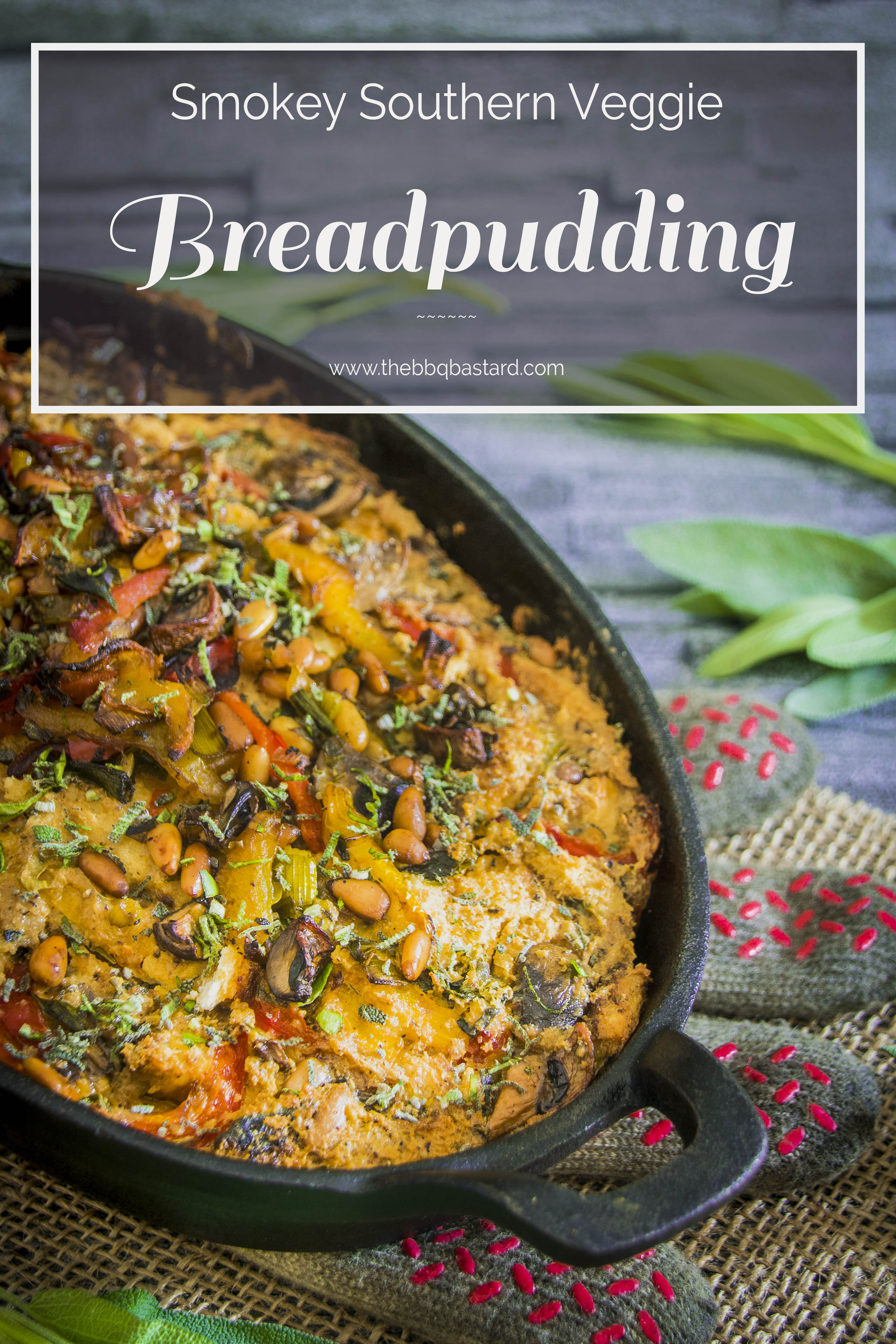 Southern vegetable breadpudding