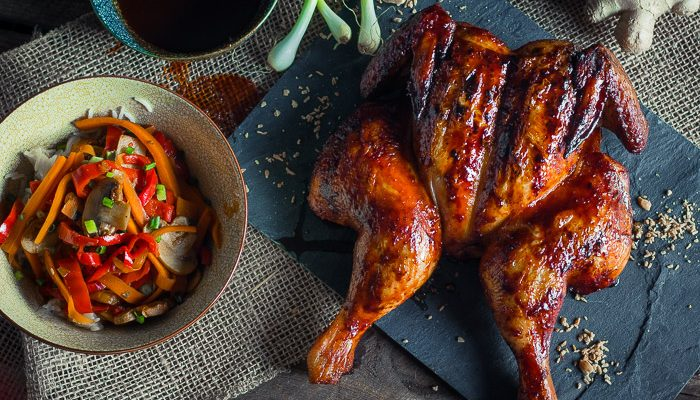 Thai Roadkill Chicken – Sriracha Ginger glazed