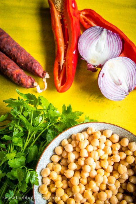spaanse kikkererwten salade