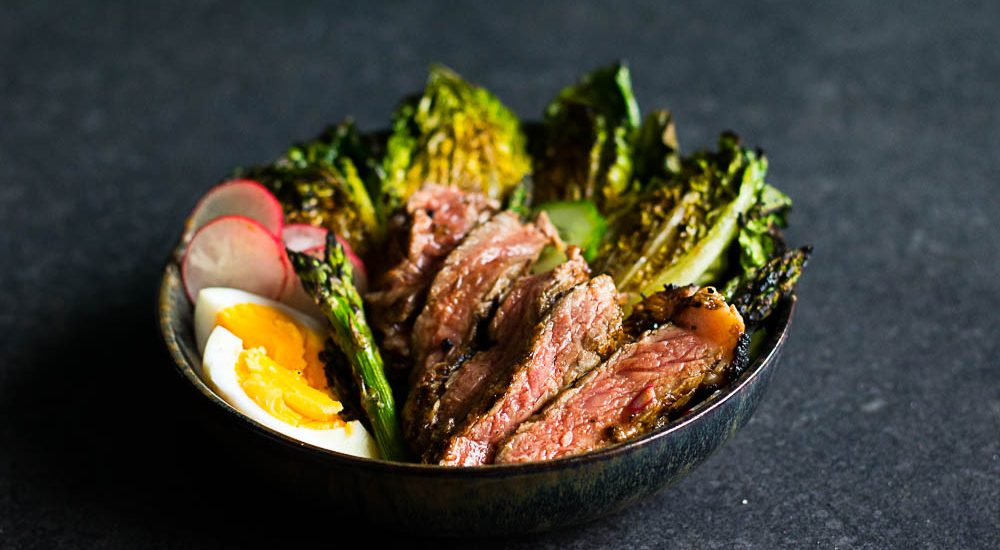Grilled Irish Rib-eye Salad – a coffee rubbed delight