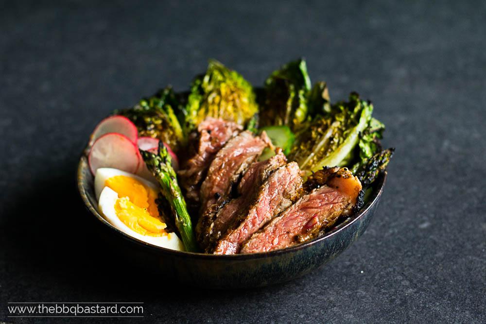 Grilled Irish Rib-eye Salad – a coffee rubbed delight