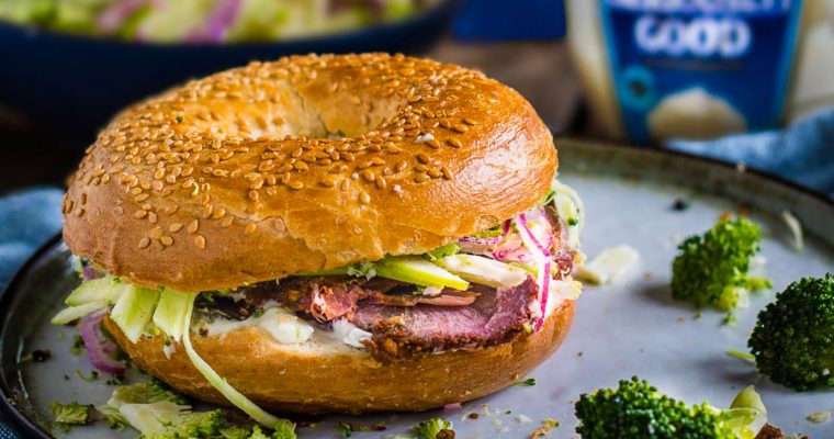 Beef Cheek Pastrami – Bagel Club Sandwich Mania