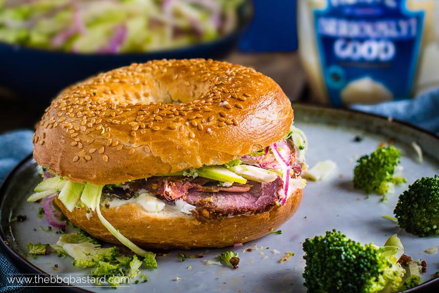 Beef Cheek Pastrami – Bagel Club Sandwich Mania
