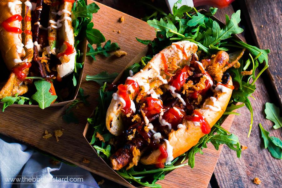 English Breakfast Hotdog – Francis Mallmann style