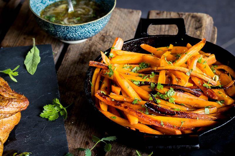 Peach liquor carrots – Surprising sides!