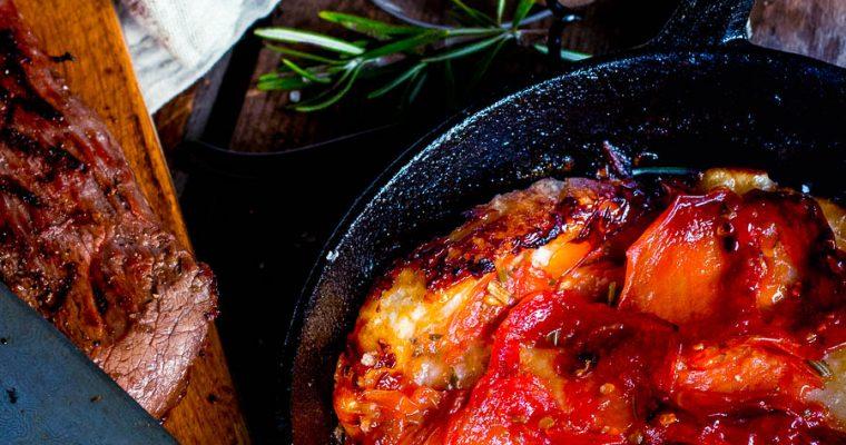 Tomato Tarte Tatin with cherrybeer – you want this!