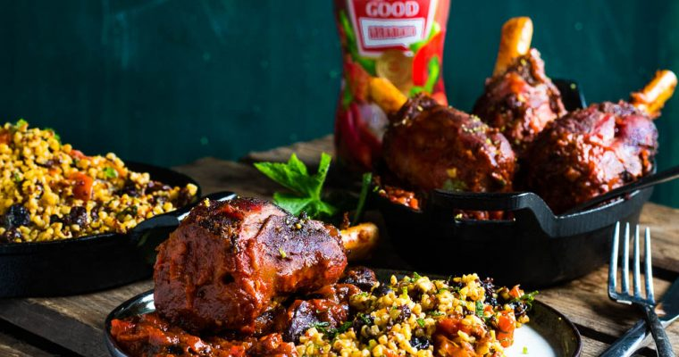 Lambshank lollypops on a Nort-African Plate