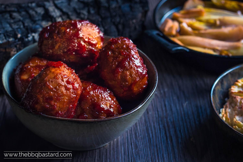 Smoky Bloody Meatballs – terrifyingly tasty