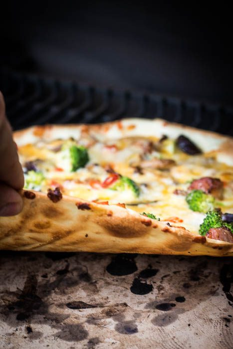 Pizza indirect grillen