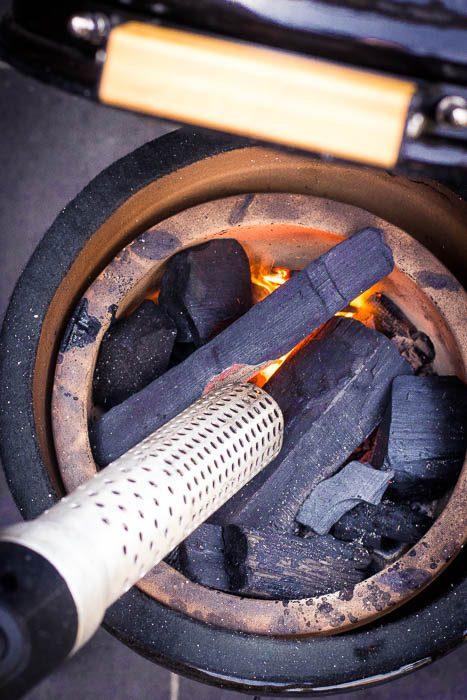 BBQ opstarten met looftlighter