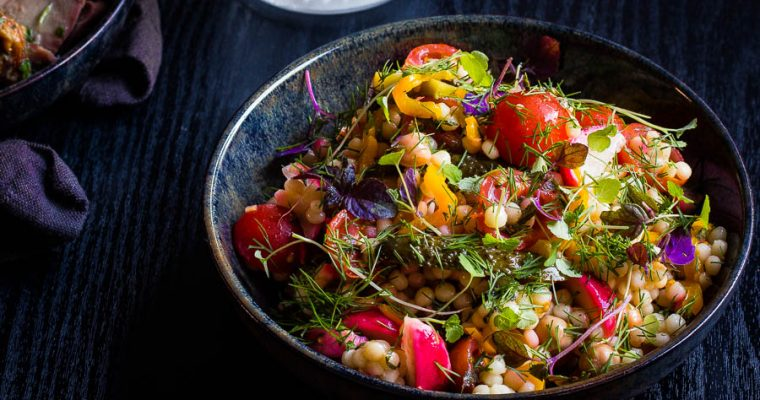 Perzische parelcouscous salade
