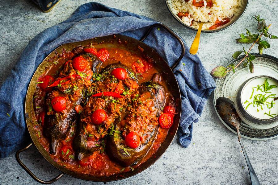 Karniyarik – Gebakken aubergine met rund uit het boek Anatolië