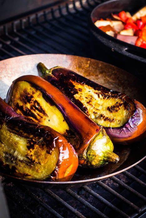 Gebakken aubergine voor Karniyarik