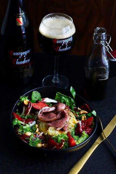 Beerpairing salade van gerookte eendenborst met bourgogne des Flandres