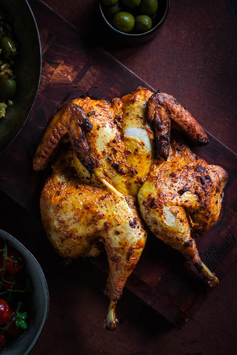 Marokkaanse gegrilde kip
