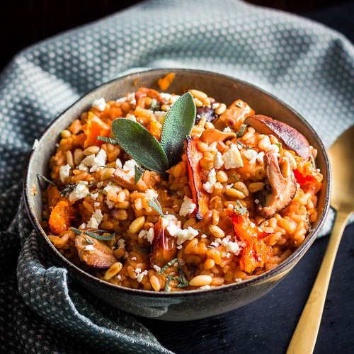 Roasted butternut risotto