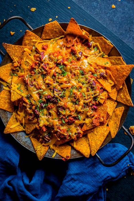 Smoky bastard bean nachos