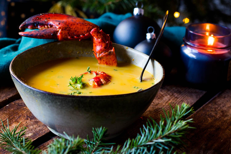 Smoky Kreeftensoep met Jenever – Royale soep