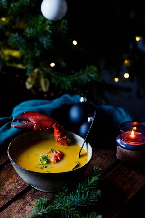 smoky lobster soup