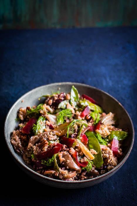 Wintery quinoa salad