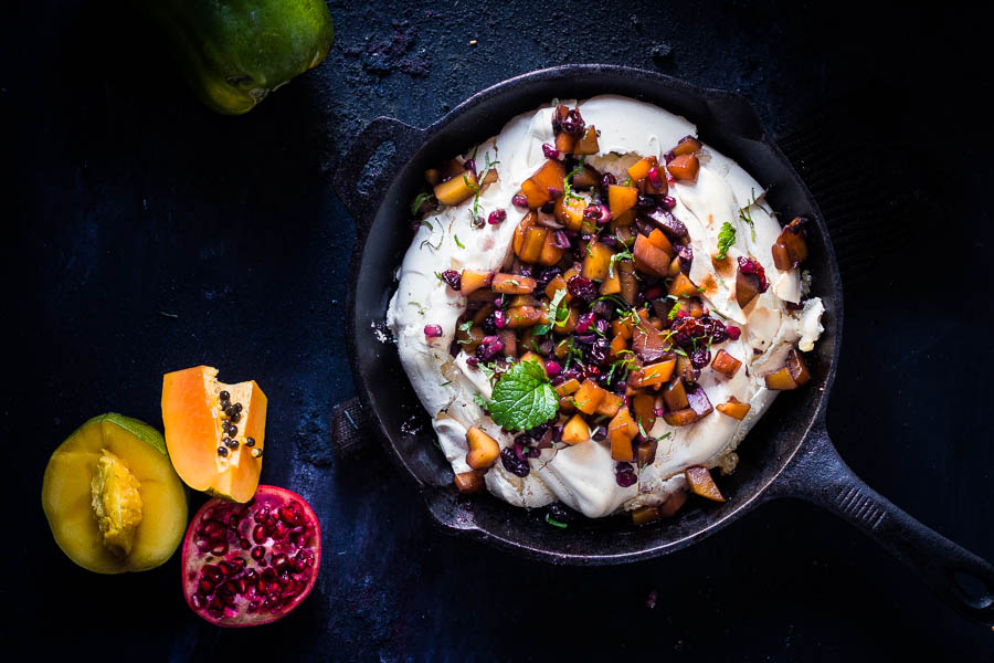 Tropical Pavlova – Meringue met tropische vruchten