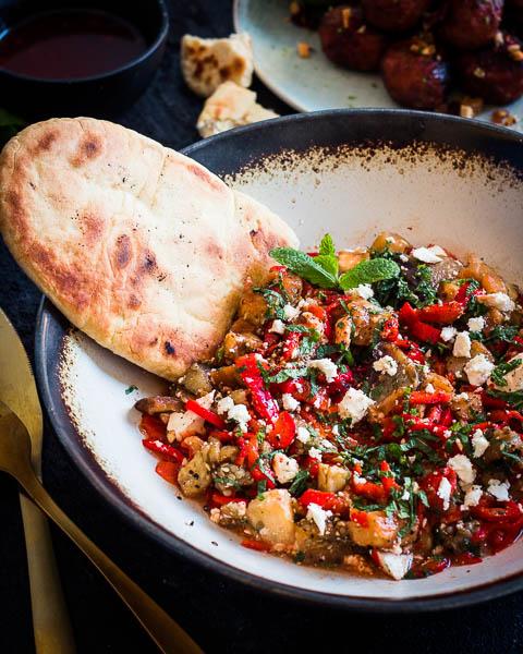 Turkse BBQ salade
