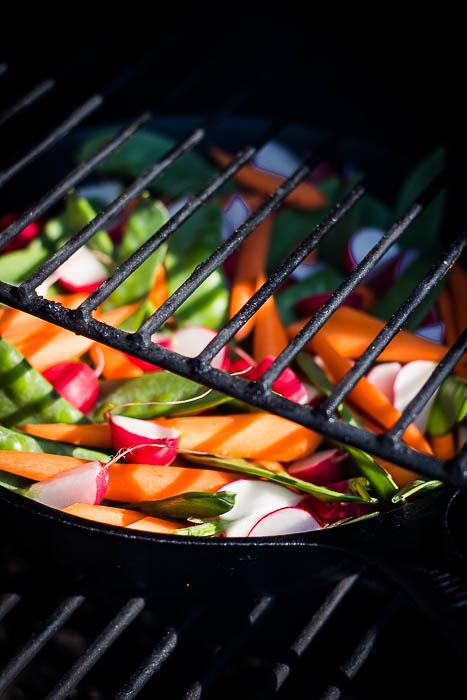 Bowl van geroosterde groenten