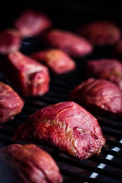 Cherry beer pork cheeks