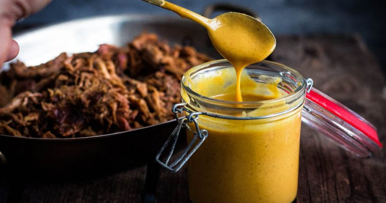 Honey mustard sauce met rum