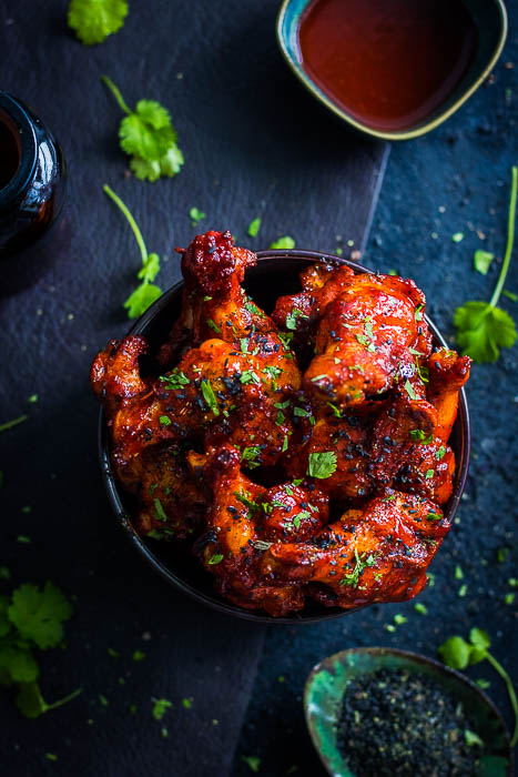 Smoky Korean Chicken wings