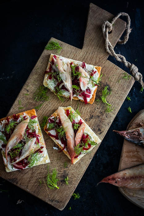 smoked mackerel toast