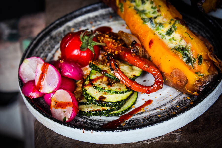 Vegan BBQ platter