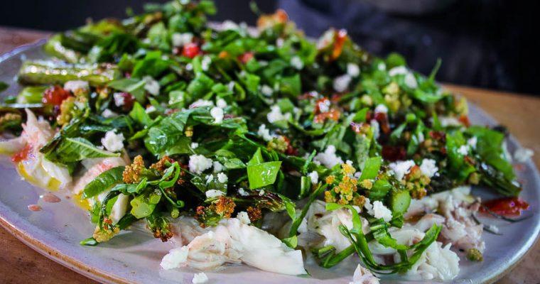 Salade van Zeebaars in kleikorst met Willem Hiele