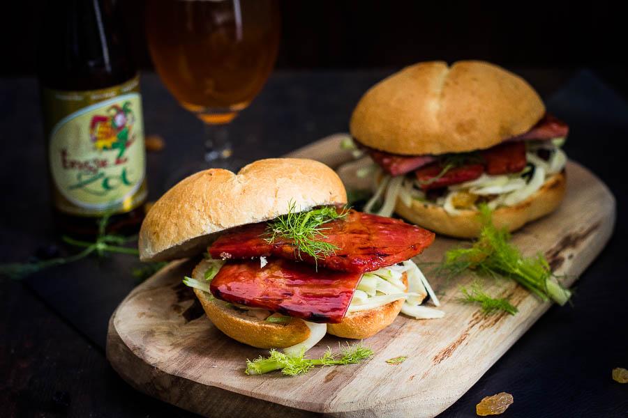 The Fool's Sandwich – Beer glazed ham #BBQZOT
