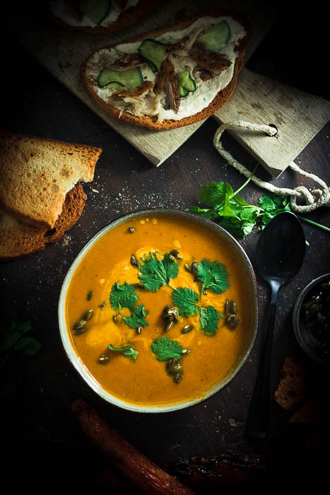 Grilled Carrot soup