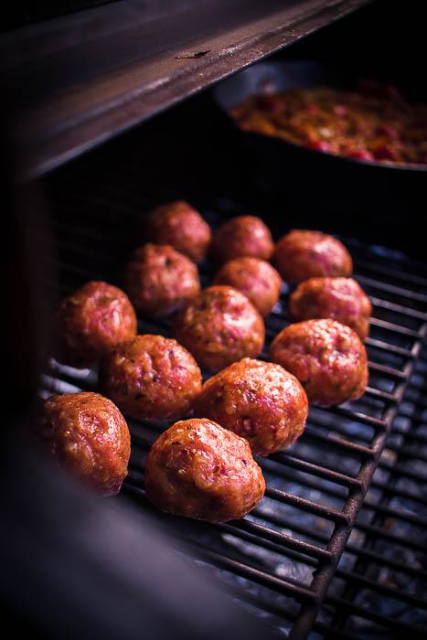 Smoky indian meatballs
