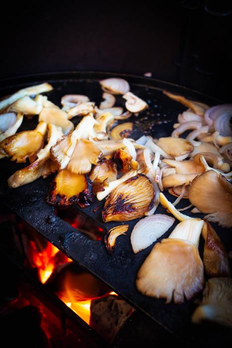 Wild champignons op de BBQ